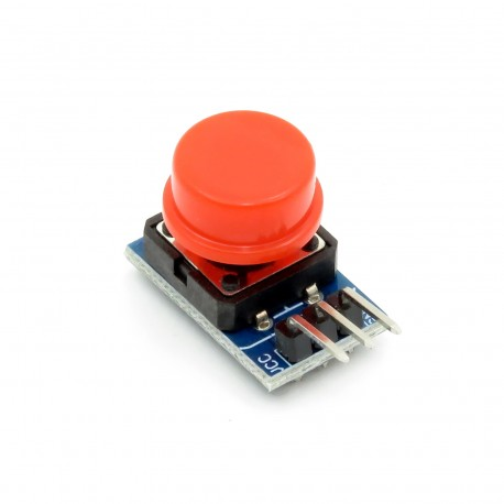 Module with a red button