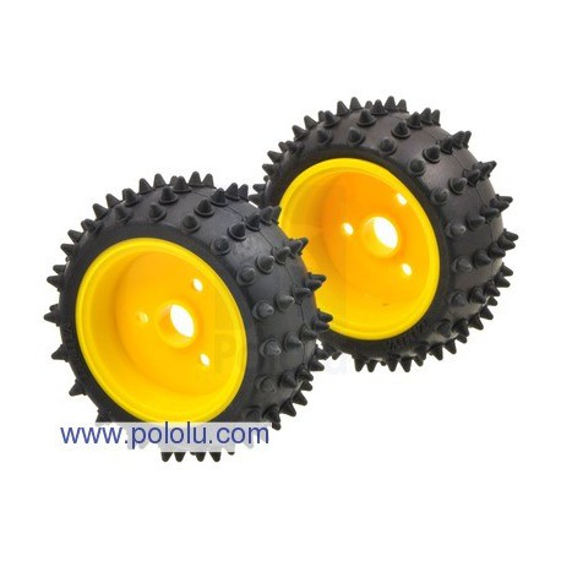 Pololu 1687 - Tamiya 70194 Spike Tire Set (2 tires)