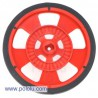 Pololu 980 - Solarbotics GMPW-R RED Wheel with Encoder Stripes, Silicone Tire