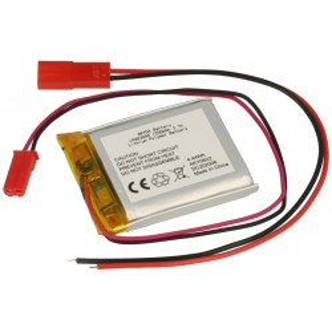Akumulator Li-Po Akyga 3,7V/1200mAh, konektor+gniazdo 2,5 JST-RCY
