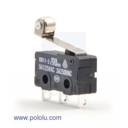 Pololu 1404 - Snap-Action Switch with 16.3mm Roller Lever: 3-Pin, SPDT, 5A