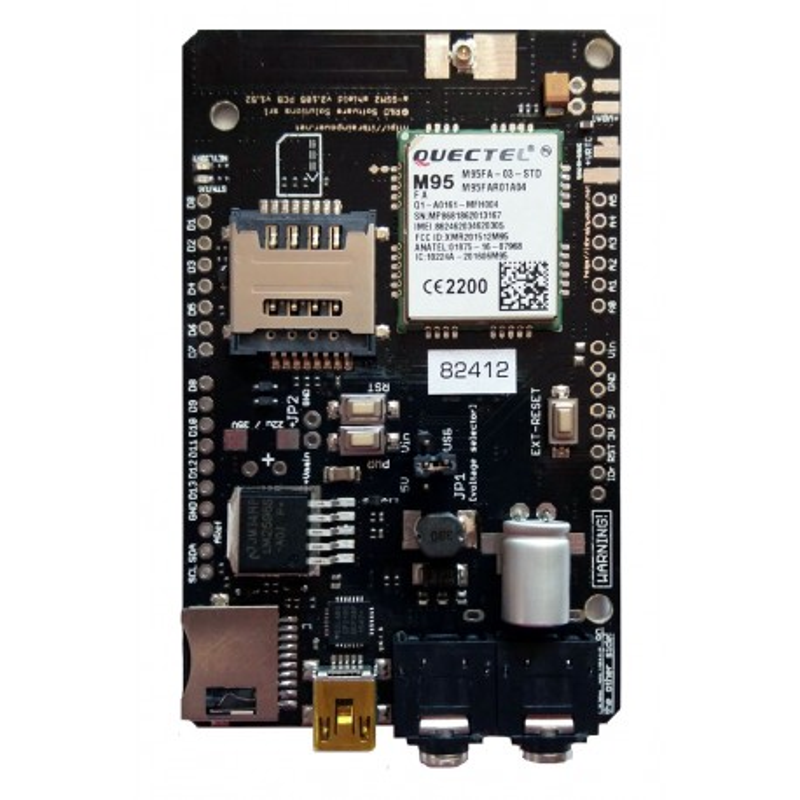 A-GSM II Shield - płytka rozszerzeń z modułem GSM/GPRS do Arduino i Raspberry Pi