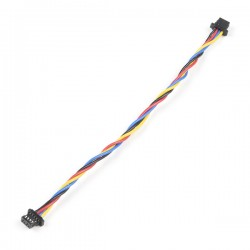Qwiic 4-pin female-female cable, 100mm (flexible)