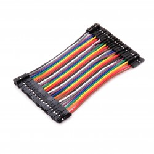 Przewody połączeniowe F-F różnokolorowe 10 cm - 40 szt.
