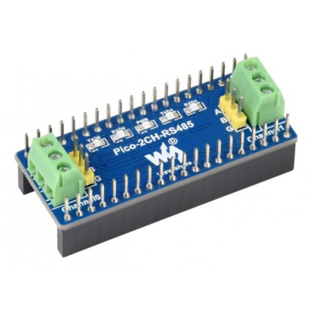 Pico-2CH-RS485 - module with UART-RS485 converter for Raspberry Pi Pico