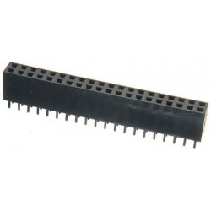 Contact strip 2.54mm straight 2x20, black
