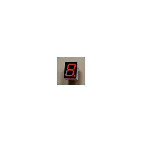 7-segment LED display, 1 digit 9.90mm, red, common anode