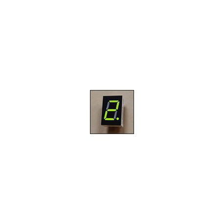 7-segment LED display, 1 digit 12.70mm, bright green, common anode