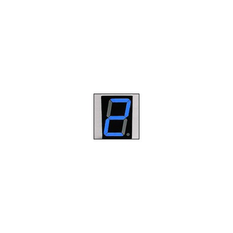 Wyświetlacz LED 7-segmentowy, 1 cyfra 38,10mm, niebieski jasny, wspólna anoda