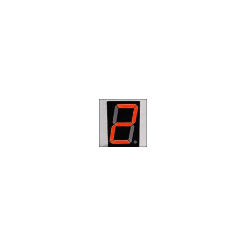 Wyświetlacz LED 7-segmentowy, 1 cyfra 38,10mm, czerwony jasny, wspólna anoda