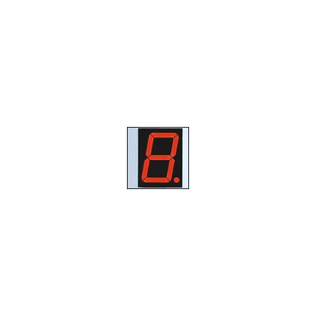 7-segment LED display, 1 digit 101.60mm, red, common anode