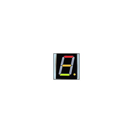 7-segment LED display, 1 digit 101.60mm, bright green + red light, common anode
