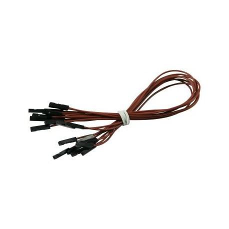 Connecting cables F-F brown 25 cm - 10 pcs