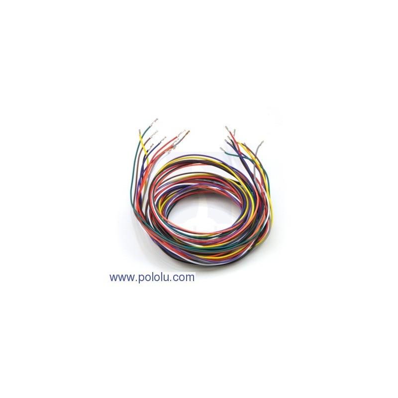 Przewody połączeniowe F-F brązowe 25 cm - 10 szt.