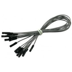 Connecting cables F-F gray 25 cm - 10 pcs