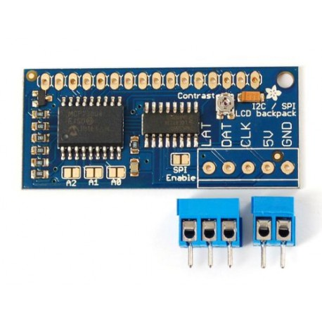 I2C / SPI character LCD backpack, RoHS