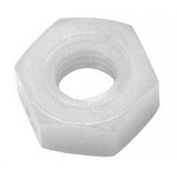 M3 hex nut, white polyamide