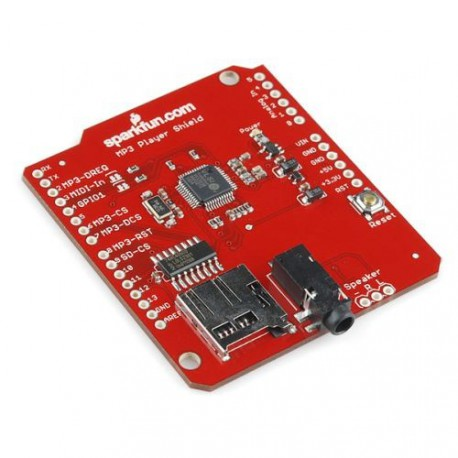 MP3 Player Shield, OSHW In Fritzing Library, SparkFun
