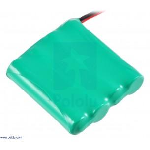 Wyświetlacz LED 7 segmentów, 4 cyfry, I2C, żółty