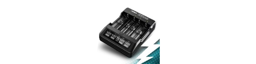 Cylindrical battery chargers