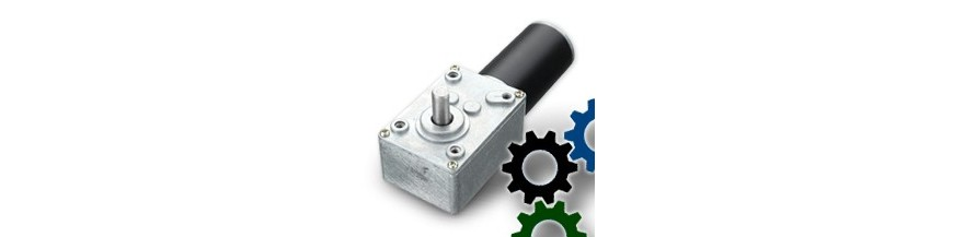 DC motors with worm gear